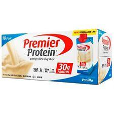 Premier Nutrition 18 pk Vanilla Ready Drink 30 gram High Protein Shake 11 oz
