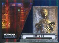 Star Wars Evolution 2016 Blue Parallel Card #43 Han Solo - Carbonite