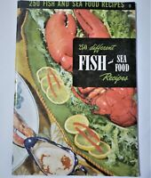 250 Fish and Seafood Recipes Cookbook Culinary Arts Institute Vintage 1949