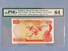 Singapore $10 P-3-C ND(1972)  PMG 64