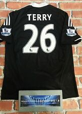 JOHN TERRY CHELSEA FOOTBALL SHIRT away HOME WITH PATCHES MENS LARGE