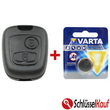 Car Key 2 Buttons +1x Battery Compatible with Peugeot 106 206 207 306 307 806