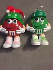 Mars Red & Green M&M's Minis Figure Candy Containers Christmas Holiday Decor Set