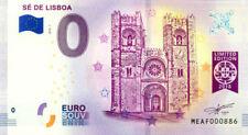 PORTUGAL Lisbonne, Cathédrale Sé, N° de la 9ème, 2018, Billet 0 € Souvenir