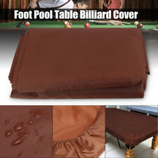 8 Foot Pool Billiard Table Cover Coffee Heavy Duty Fitted 210D Polyester Oxford