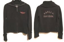 Harley Davidson Full Zip Cardigan Sweater Graphic Shawl Neck 96111-05VW MEDIUM
