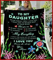 Turtle - To My Daughter - My Everything Sofa Fleece Blanket 50-80