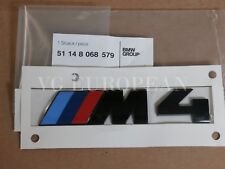 "BMW M4 Black Competition Genuine Rear Trunk Emblem ""M4"" Decal Badge NEW"