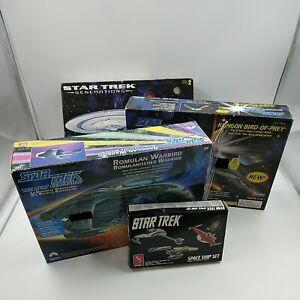 Job Lot Star Trek Models w/ Boxes X4 Vintage AMT ERTL - Parts Missing/For Spares