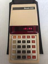 Vintage Litronix 2220 /  LED Calculator w/ Case Works Excellent