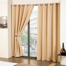 Curtains Blackout EyeletBeige 66x90 inch Cali NEW
