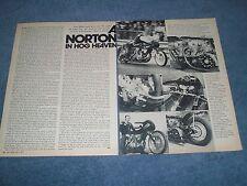 """1967 Norton Twin-Engine Drag Motorcycle Vintage Article """"A Norton in Hog Heaven"""""""