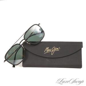 LNIB  $400+ Maui Jim Japan MJ555-02 Black Following Seas Titanium Sunglasses NR