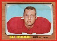 1966 Topps #65 Ed Budde LOW GRADE STAIN Kansas City Chiefs FREE SHIPPING