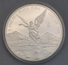 Mexico 2011 Mo Silver 5 Onza Libertad Proof 2011 Mexican Bullion Coin 5 Ounce