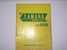 Yamaha    RS100 B    parts list  book manual             (#16)