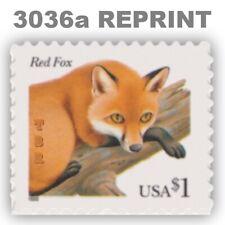 3036a Red Fox $1 Reprint Die Cut 11¾ x 11 Flora Fauna Issue 2002 MNH - Buy Now