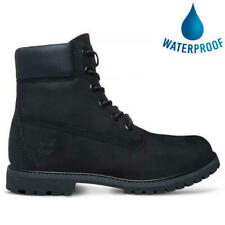 Timberland Womens Ladies 6 Inch Classic Waterproof Ankle Boots Black Size 4-8