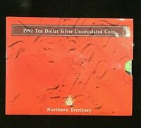 1992 Northern Territory NT Australia The Outback $10 UNC Silver Coin