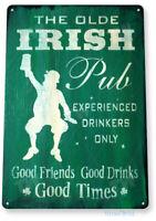 TIN SIGN Irish Pub Metal Wall Art Saint Patrick's Store Beer Shop Bar A443