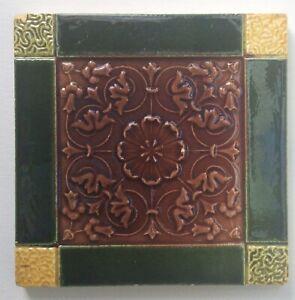Original Victorian Decorative Glazed Tile.