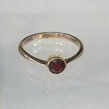 Genuine 9ct Rose Gold Antique Solitaire Genuine Garnet Ring