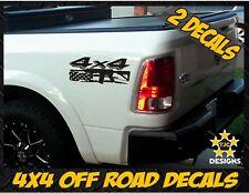 4x4 Truck Bed Decal Set MATTE BLACK For Dodge Ram Dakota Tactical AR15 M4