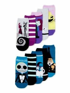 Women's Nightmare Before Christmas Oogie Boogie 10 Pair No Show Socks Sz 4-10