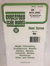 ".080"" Opaque White Polystyrene Corrugated Siding Evergreen Scale Models EVG4528"