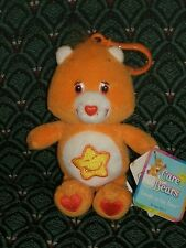 "Care Bear 5"" clip * LAUGH-A-LOT BEAR * Orange * New W Tags *2003* RARE *RETIRED"