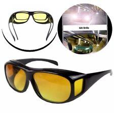 HD Nachtsichtbrille Überziehbrille Nachtfahrtbrille Sonnen Kontrastbrille Gelb