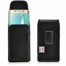 New Galaxy S6 Edge Plus Holster Turtleback Vertical Leather Pouch Belt Clip