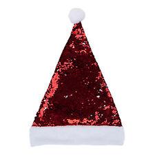 Natale Reverse Paillettes Santa Cappello - Rosso/Argento Variabili Lustrini