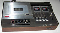 Vintage 1972 TEAC Stereo Cassette Deck Model 220 - 2-Head 4-Track 2-Channel
