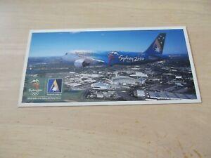 Airline Issue ANSETT AUSTRALIA Sydney 2000 Olympics Airbus A320 postcard VH-HYB