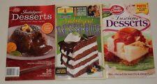 lot of 3 Betty Crocker & Land O Lakes Dessert Recipe Cookbooks Pies Cakes cookie