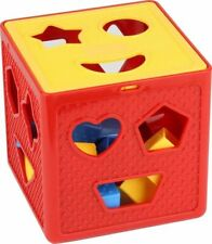 Baby Blocks Shape Sorter Toy Children's Blocks Includes 18 Shapes Color Toys