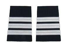Epaulette Captain First Officer Pilot 3 Bars NBlue R421