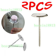 2X Cake Cupcake Decorating Sugarcraft Icing Cream Flower Nail Stand Cooking Tool