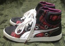 Original PUMA Classic Hi - Top Canvas Retro Tennis Shoe Sneaker Women 10  Purple