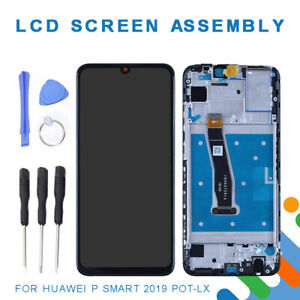 Replacement LCD Display Touch Screen w/ Frame Assembly For Huawei P Smart 2019