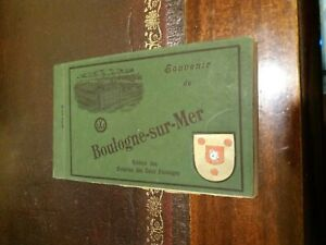 Boulogne Sur-Mer Post Card Book. 24 x Sepia Type Postcards, Unused