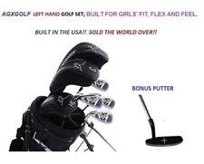 AGXGOLF GIRL'S LEFT HAND TWEEN MAGNUM COMPLETE GOLF CLUB SET+DRIVER+BAG+PUTTER