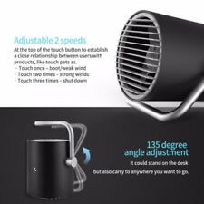 Rotatable Mini USB Fan Touch Control Desktop Cooler Twin Turbo Blades Home Sale