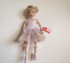 """Show-Stoppers Collectible Porcelain Doll- Cadence 10 1/2"""" in Wooden Box- Musical"""