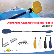 Oceansouth Kayak Paddle Blue Aluminum Asymmetric (Split Shaft)