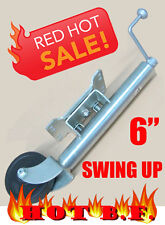 HUGE Special Heavy Duty Swing up Trailer Jockey Wheel 6""