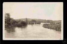 Danbury Iowa 1918/30 RPPC River Bridge & Farm House IA