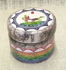 Native American Handmade Horsehair Pottery Hilda Whitegoat Small Jewelry Box