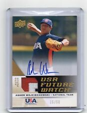 2009 Upper Deck Future Watch Asher Wojciechowski Autograph Patch Card 15/50 Auto